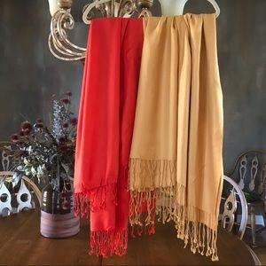 Two Pashmina type Scarves/Wraps